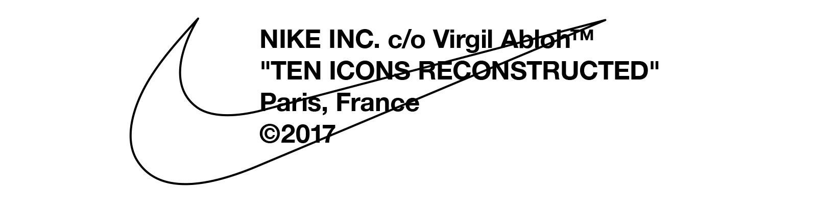 NIKE INC. CO VIRGIL ABLOH </p>                     </div>   <!--bof Product URL --> <!--eof Product URL --> <!--bof Quantity Discounts table --> <!--eof Quantity Discounts table --> </div>                        </dd> <dt class=